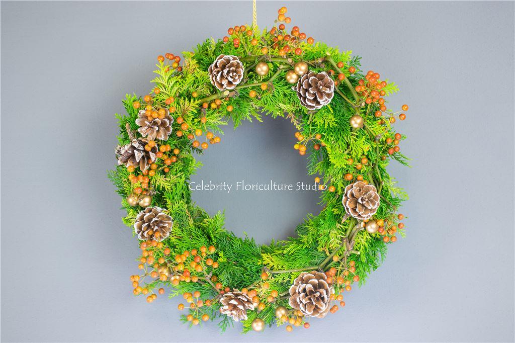 台中聖誕節派對花圈/花環