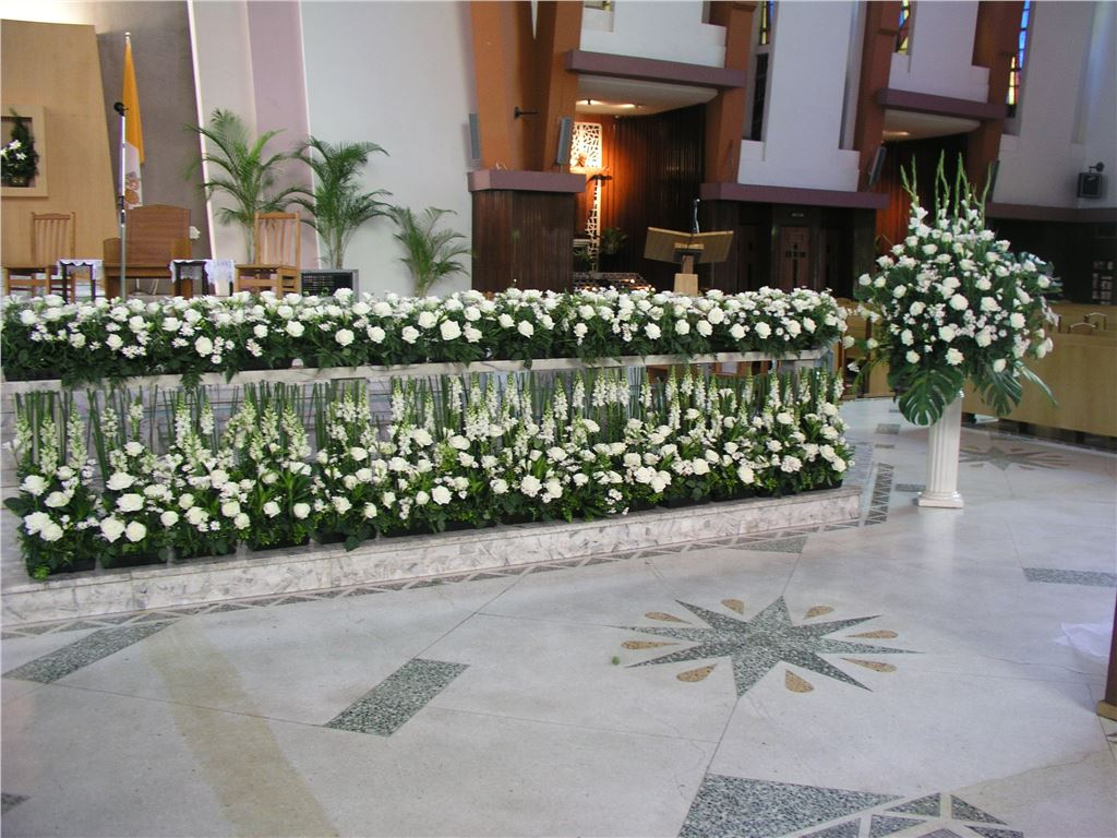喪禮會場靈前花|喪禮會場靈前花佈置